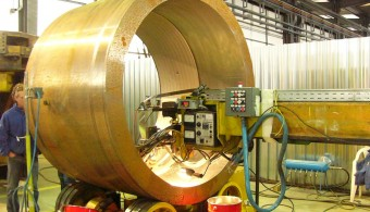 WELD OVERLAY ON SHELL FOR H2S CORROSION RESITANCE HEAT EXCHANGERS CLIENT: EXTERRAN / BELLELI ENERGY CPE – MANTOVA ITALY