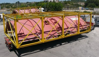 PRE-ASSEMBLY AND SHIPMENT OF FLUE GAS STACK FOR COMBINED-CYCLE GAS TURBINE(CCGT) POWER PLANT, MITTELSBUREN GERMANY, CLIENT: STF - MILAN ITALY