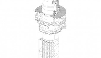 FLUE GAS STACK FOR COMBINED-CYCLE GAS TURBINE (CCGT) POWER PLANT, MITTELSBUREN GERMANY, CLIENT: STF - MILAN ITALY